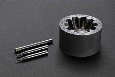 超硬直彫り加工用電着ツール